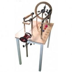 Mesa para ejercicios de manos y tendones cromada.