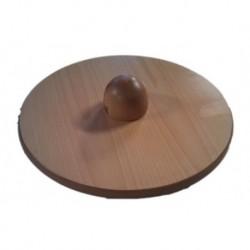Plato de boheler para ejercicios de circunduccion de tobillo, en madera barnizada