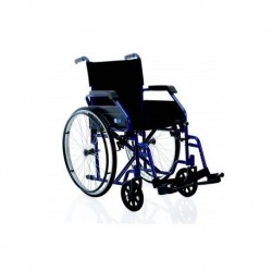 Silla de ruedas plegable de acero pintado