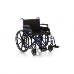 Silla de ruedas plegable acero pintado ancho especial