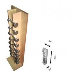 Juego de pesas cromadas de 1 a 4 kg (completo de 20 kg) con soporte de madera