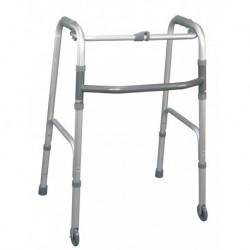 Andador plegable, dos conteras, dos ruedas