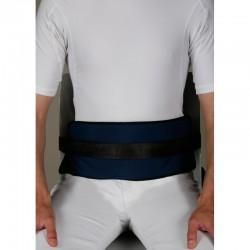 Cinturón acolchado abdominal para silla.