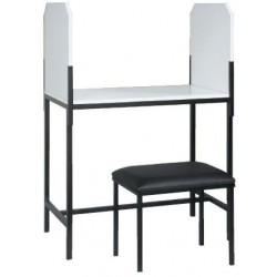 Mesa para toma de muestras acero esmaltado.
