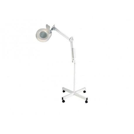 Lámpara lupa con pie rodable