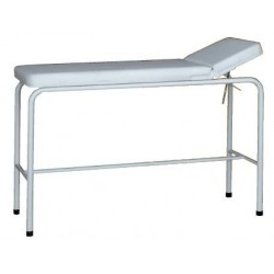 Mesa de exploración y tratamiento pediátrica de acero esmaltado.